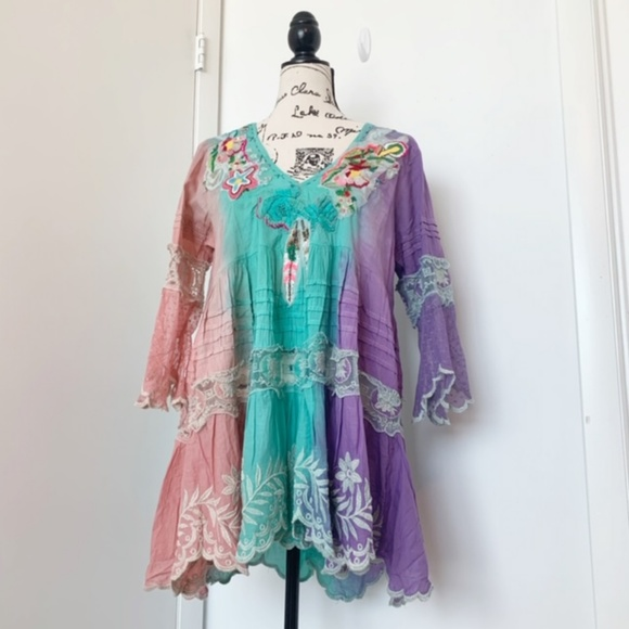 Antica Sartoria Other - NWT Antica Sartoria Boho Dress/Tunic/Beach Coverup